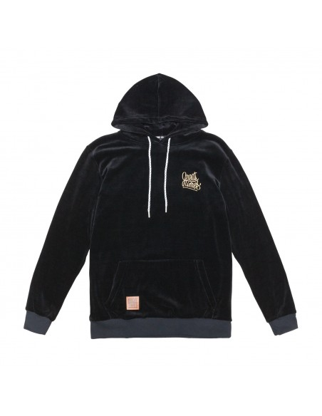 SUDADERA GREAT TIMES CAPUCHA VELOUR FW17 NEGRA