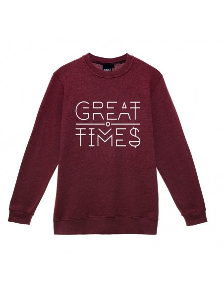 SUDADERA GREAT TIMES NEW LOGO BURDEOS