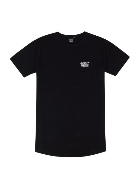 CAMISETA LONG TEE NEGRA